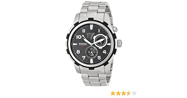 Amazon.com: Fossil Mens ME3038 Dean Analog Display Automatic Self Wind Silver Watch: Fossil: Watches