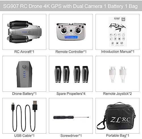 Goolsky- SG907 Drone avec Caméra 1080P 5G WiFi GPS Interface de Positionnement de Flux Optique MV Suivez-Moi Geste Photos Vidéo RC Quadricoptère avec Sac Portable