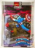 model kits marvel - Captain America Red Skull Diorama Model Kit 1:12 Scale (Toy Biz 1998)