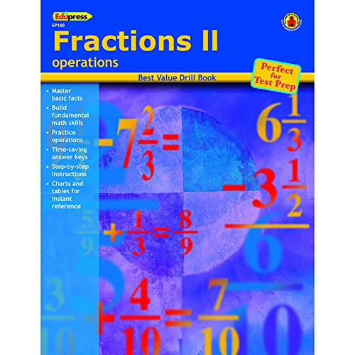 EDUPRESS FRACTIONS 2 OPERATIONS (Set of 12)