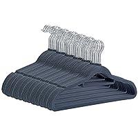 CRESNEL Non-Slip Velvet Clothes Hanger - Set of 50 - Heavy Duty