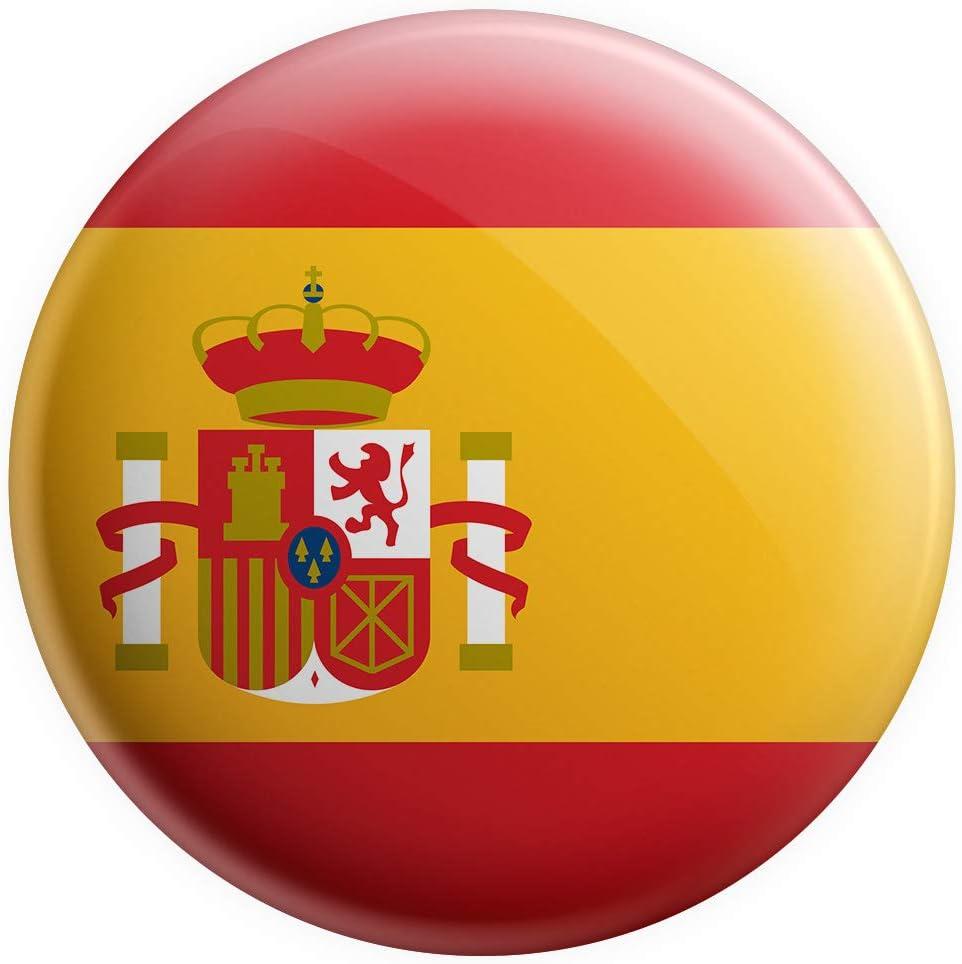 AK Giftshop - Imán con bandera de España para regalo de cumpleaños, Navidad, regalo de calcetín, amigo invisible, coleccionista: Amazon.es: Hogar