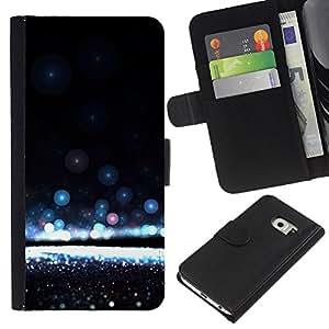 All Phone Most Case / Oferta Especial Cáscara Funda de cuero Monedero Cubierta de proteccion Caso / Wallet Case for Samsung Galaxy S6 EDGE // Water Awe Inspiring Black