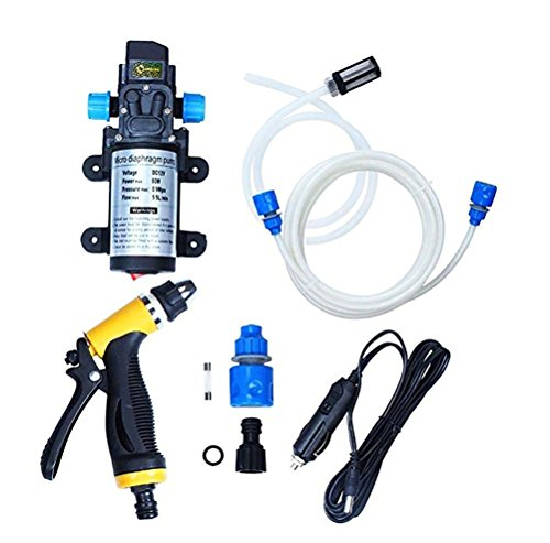 JINER Electric Car Washer,High Pressure Car Washer Pump,12V 80W Electric Washer Pump Car Washer Device For Auto,Pet, Window,Watering And Camping: Amazon.co.uk: Sports & Outdoors