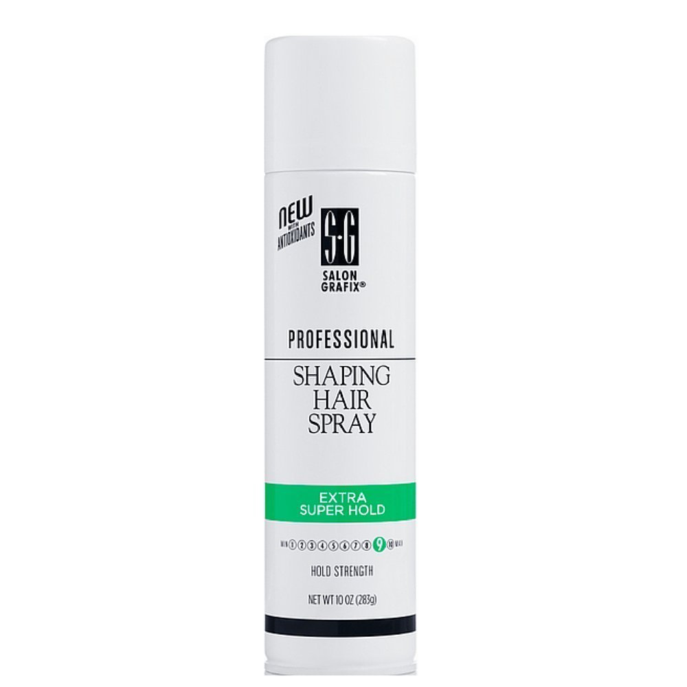 Salon Grafix Profession Shaping Hairspray, Extra Super Hold 9, 10 Oz