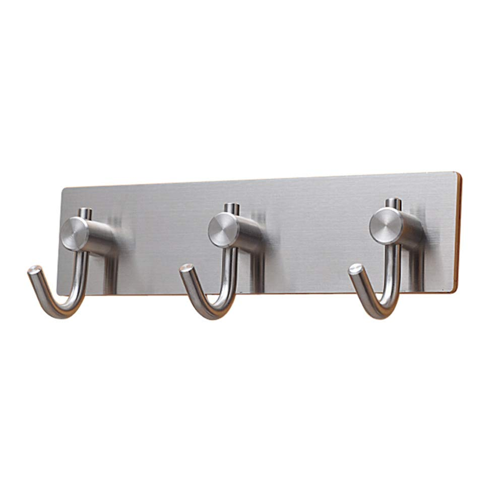 COAT RACK Coat hook - no trace hook / 304 stainless steel hook/bathroom kitchen hook/door clothes hook/wall hanger single hook/fashion durable (Color : C)
