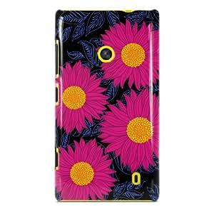 Nokia Lumia 520 Diseño de flores de Collection de girasol con gafas de rosa acabado satinado diseño de 3D funda de by Appycases