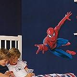 Gurteen Children's DIY Removable Mural PVC Home Wall Art Decal Sticker 3D Spider-man Novelty Ceiling Decor