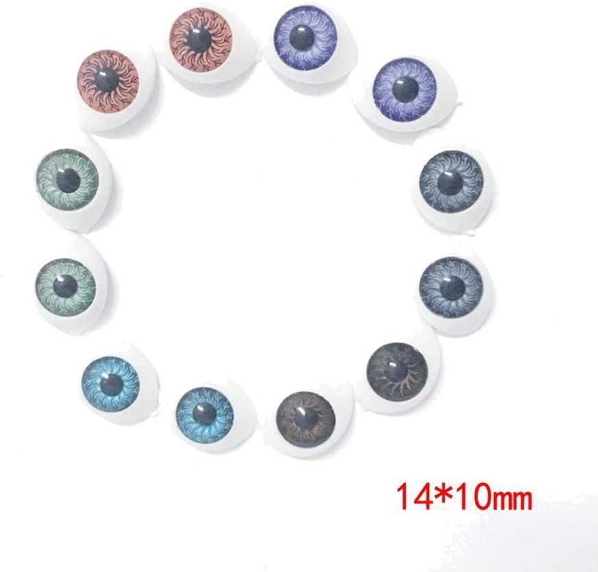 100Pcs 6-10mm Black Plastic Toy Eyes Safety DIY for Teddy Bear Animal Dolls 6mm Ameesi