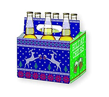 holiday beer lovers gifts 6 pack craft beer carrier gift box in festive designs