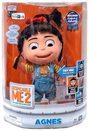 Despicable Me 2 EXCLUSIVE DELUXE 11 Inch Talking INTERACTIVE Figure Agnes by Thinkway Toys]()