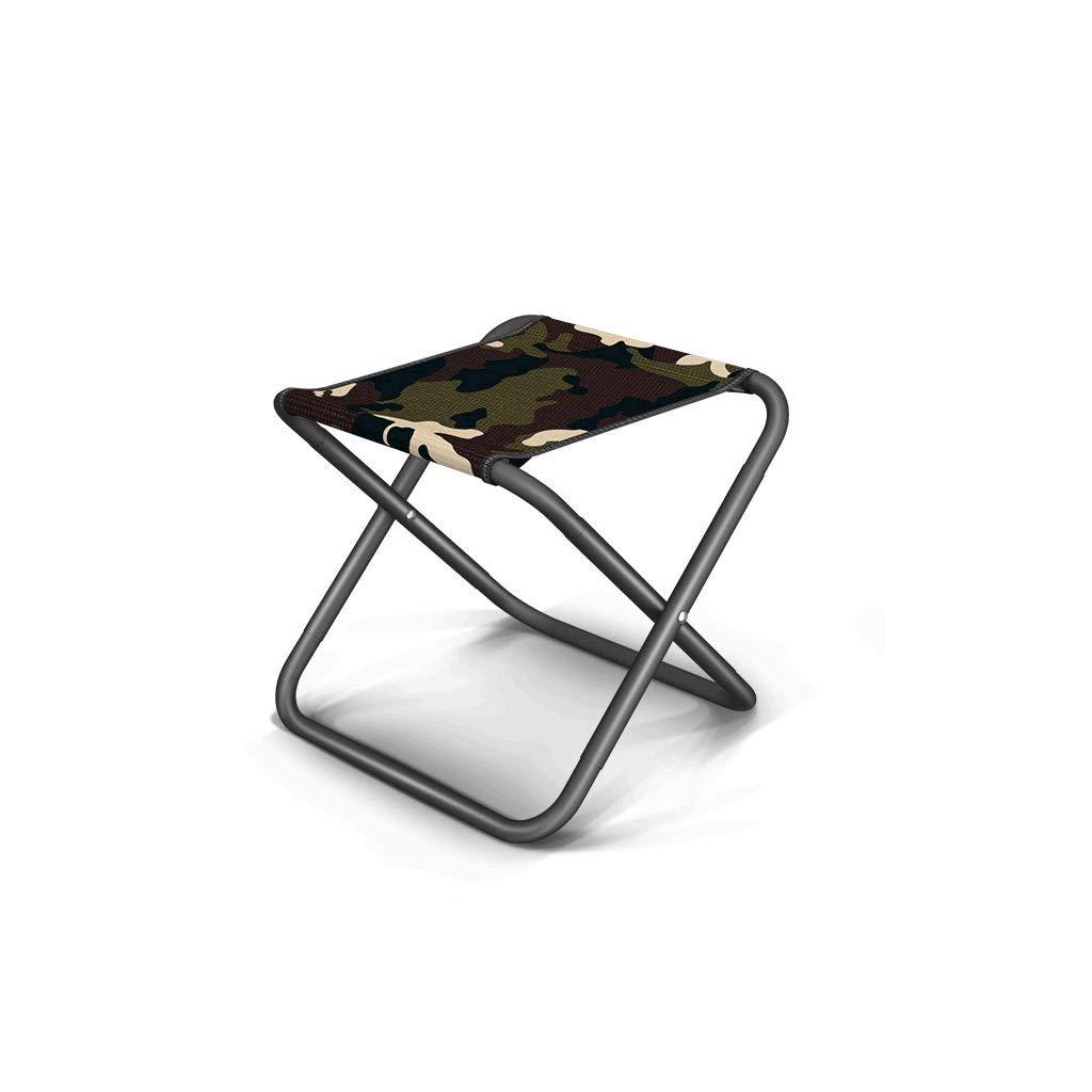 Sillas plegables Taburete Plegable portátil Que acampa, Metal, Grueso, Plegable, portátil al Aire Libre, Pesca, Escalada (Color : Green)