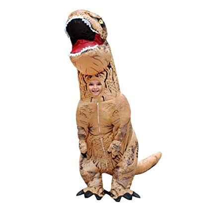 Amazon.com: Disfraz hinchable de dinosaurio Trex divertido ...