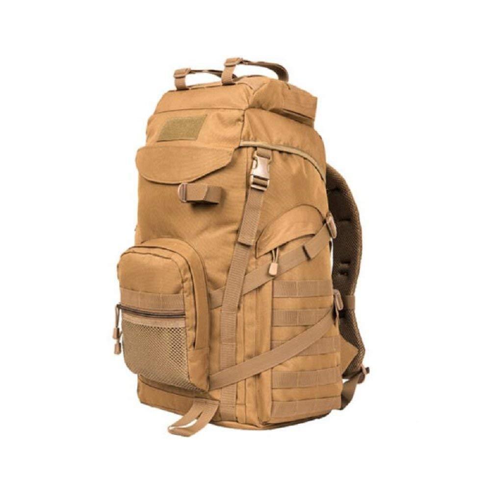 GZZ Outdoor-Rucksack 55-Liter-Kapazität Reiserucksack, Oxford Tuch Material, reißfest, Wasserdicht, männlich und Weiblich Allgemein, Outdoor-Klettern, Reiten, Tactical Camouflage Rucksack