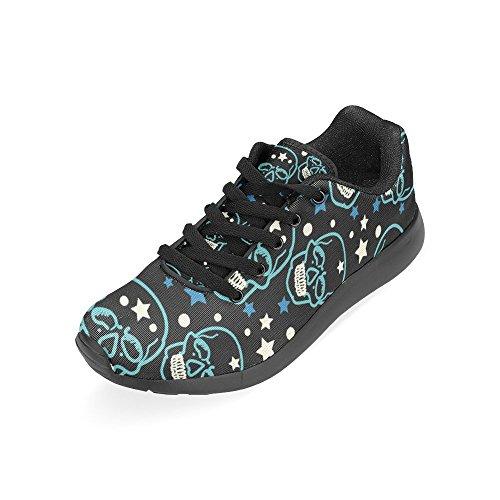 InterestPrint Womens Jogging Running Sneaker Lightweight Go Easy Walking Comfort Sports Athletic Shoes Skull Pattern QZW9EBVrDj