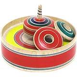 日本製 手作り おもちゃ 伝統独楽 木製こま 追いかけ独楽 小