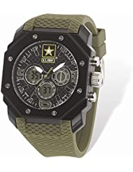 US Army Wrist Armor C28 Watch Blk/Wht Dial & Grn Rubber Strap