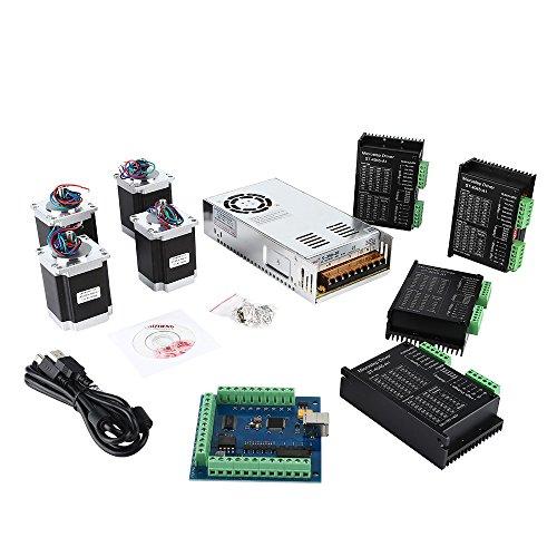 SainSmart CNC 4-Axis Kit with ST-4045 Motor Driver, USB Controller Card, Nema23 Stepper Motor and 24V Power Supply (CNC Kit 6) by SainSmart (Image #5)