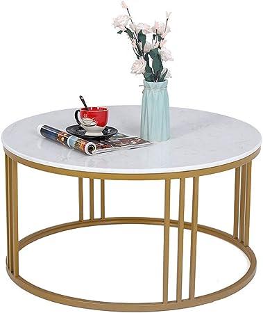 mesa de sala de estar mesas nido mesa auxiliar sofa Mesas redondas modernas de mármol Diámetro 60 cm: Amazon.es: Hogar