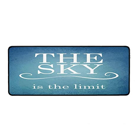 com quotes decor wristband mouse pad the sky is the