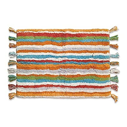Dena Home Kaiya 30 Inch X 20 Inch Bath Rug In Rust