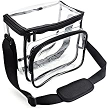 Women's Clear Backpack Bags Smooth PVC Largest Stadium Security Approved Clear Bag Adjustable Strap