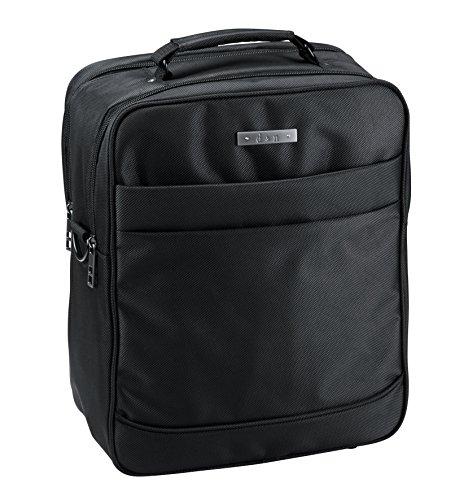 D & N Aktentasche Arbeitstasche Flugumhänger Umhängetasche Laptop Business Tasche Polyester Schwarz 5604 Bowatex