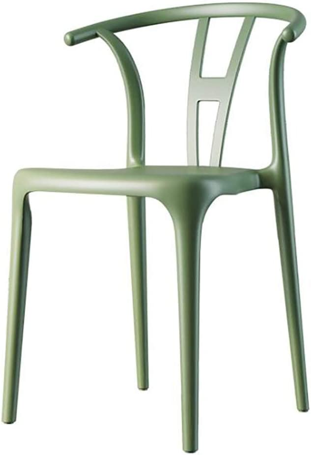 ZZFF Contemporary Modern Armless Matte Dining Chair with Back,Stackable Assembled Plastic Chair,Geometric Style Furniture Side Chair