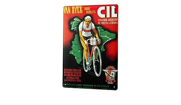LEotiE SINCE 2004 Cartel Letrero de Chapa Deportes Carrera de Bicicleta: Amazon.es: Hogar