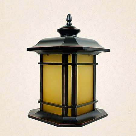 Jtivcs Antiguo accesorio de iluminación para el jardín del poste de jardín de 1 luz al