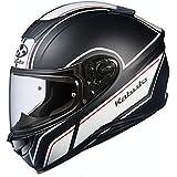 オージーケーカブト(OGK KABUTO)バイクヘルメット フルフェイス AEROBLADE5 SMART(スマート) フラットブラックホワイト (サイズ:L) 575250
