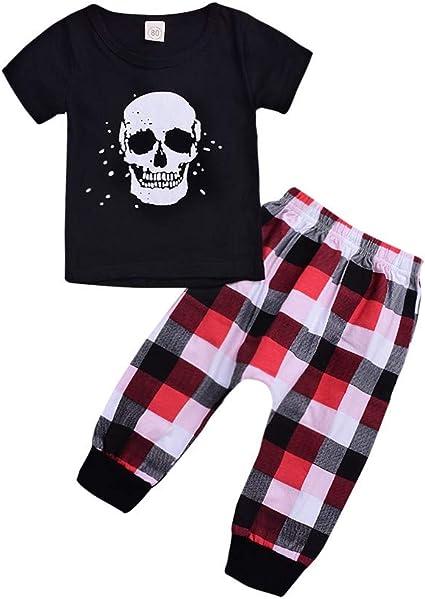 MAYOGO Conjuntos Ropa Bebe Niño Calaveras Camiseta y Pantalones ...