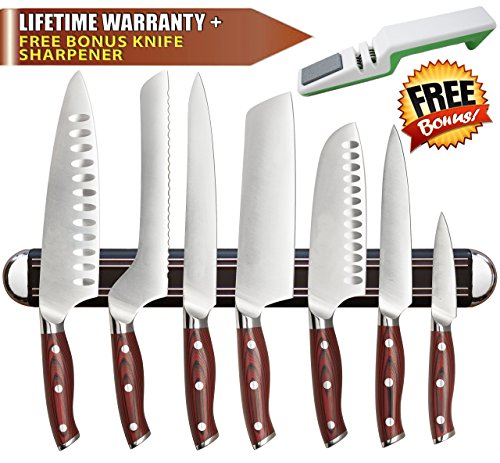 Highest Quality MAGNETIC KNIFE HOLDER/Strip by Inspired Home Living - High Energy Magnets - Knives Stay Firmly In Place - Heavy Duty Construction - Don't Be Frustrated With Cheap, Flimsy Alternatives