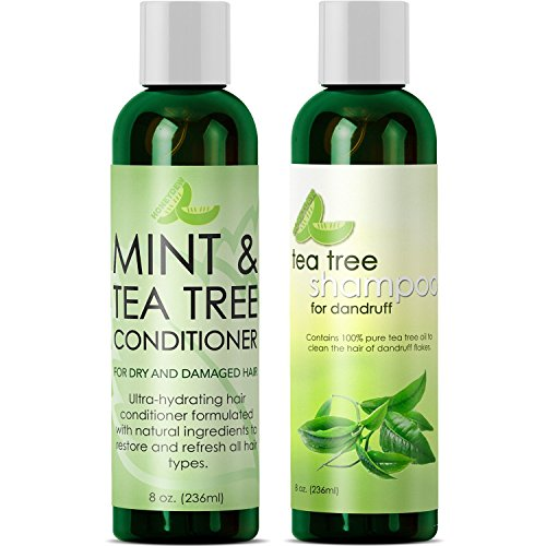 Dandruff Shampoo and Conditioner with Tea Tree Oil - Argan Oil Hair Growth Therapy - Lice Treatment for Kids - Hair Loss Products for Men Hair Loss Prevention for Women ()