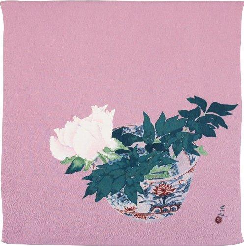 ふろしきや 風呂敷 正絹 咲く牡丹(68cm 絹100%) B00A4SG5EI