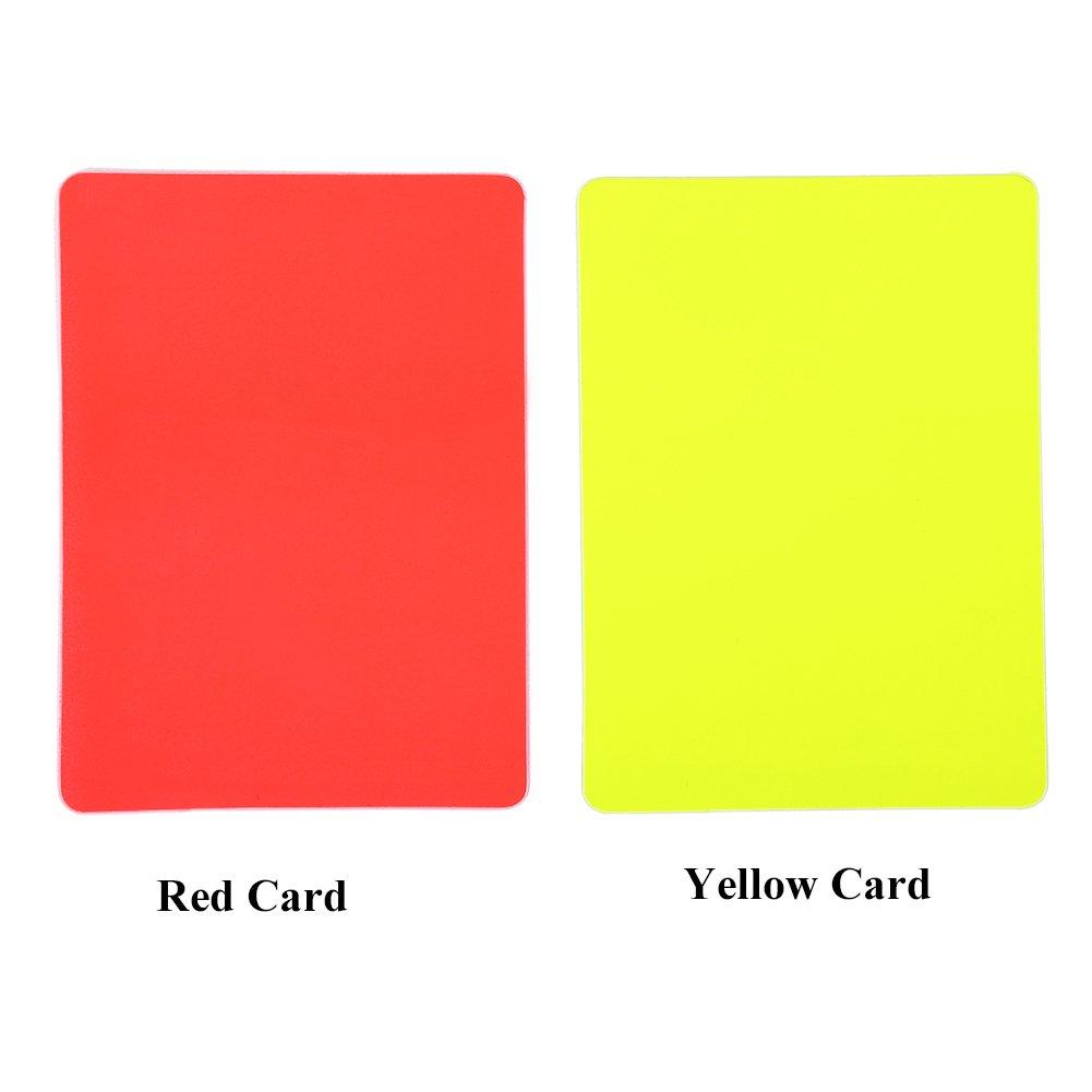 審判カード 審判 サッカー カードセットフットサル審判 PVC 警告カードセット 小冊子1枚 レコードカード10枚 鉛筆1本 変形がにくい PVC材料製 主審 副審 サッカー 赤 黄色 レフリー・審判用ウェア