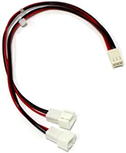 BeMatik - Cable duplicador de alimentación de Ventilador 3pin a ...
