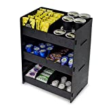Source One Black Deluxe Condiment Organizer 3 Shelf Commercial - Food Grade