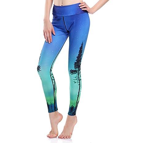 Zmil Pantalones de Yoga Impresos en 3D Pantalones de chándal Slim ...