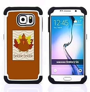 """Hypernova Híbrido Heavy Duty armadura cubierta silicona prueba golpes Funda caso resistente Para Samsung Galaxy S6 / SM-G920 [Arce del otoño de Brown""""]"""