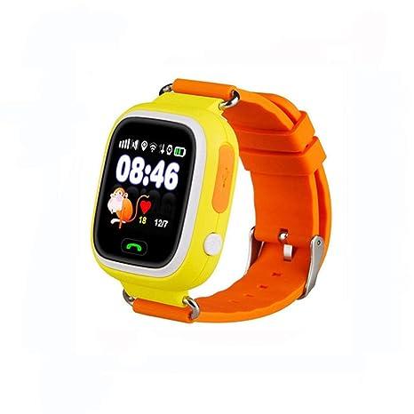 Jslai Reloj Localizador GPS Niños Reloj Rastreador Pantalla Táctil Smartwatch para Niños con SOS Reloj Despertador