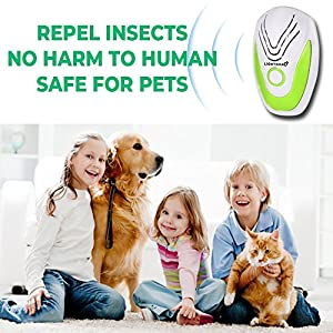 2018 Upgraded Pest Repeller - BEST pest Control 1 pack with TRIPLE Power [Ultrasonic + Electromagnetic + Nightlight] - Plug-In Electronic Home Repellent Anti Mice Ant Roach Mosquito SAFE for human (6)