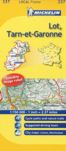 Michelin Map France: Lot, Tarn-et-Garonne MH337 (Maps/Local (Michelin)) (English and French Edition)