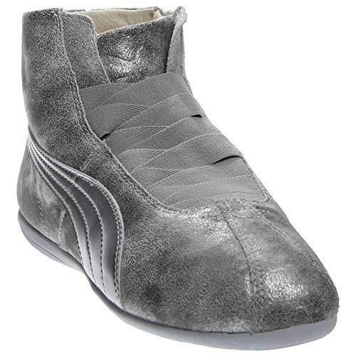 - PUMA Women's Eskiva Mid Metallic Silver Sneaker 7 B (M)