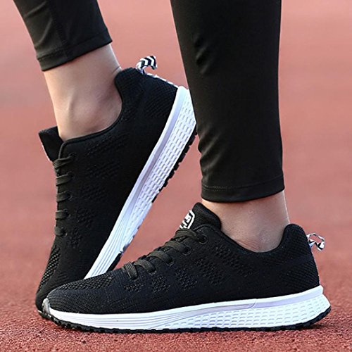 f6b875a2897 Logobeing Zapatillas Deportivas de Mujer – Zapatos Sneakers Zapatillas Mujer  Running Casual ...