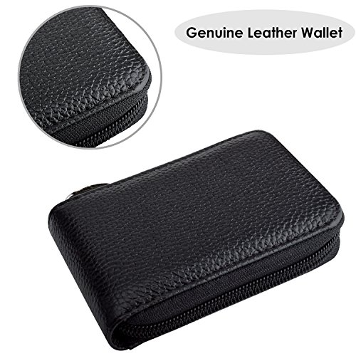 Specious RFID Blocking Wallet Credit Card Holder for Travel and Work, Genuine Leather Card Wallet for Credit Cards, Genuine Leather Credit Card Organizer, and Money Small Black02