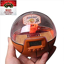 Mini Basketball Toys, Lexvss Basketball Games for Boys with Alarm Clock, New Handheld Shooting Games with The Scoreboard for Holiday Birthday Gifts