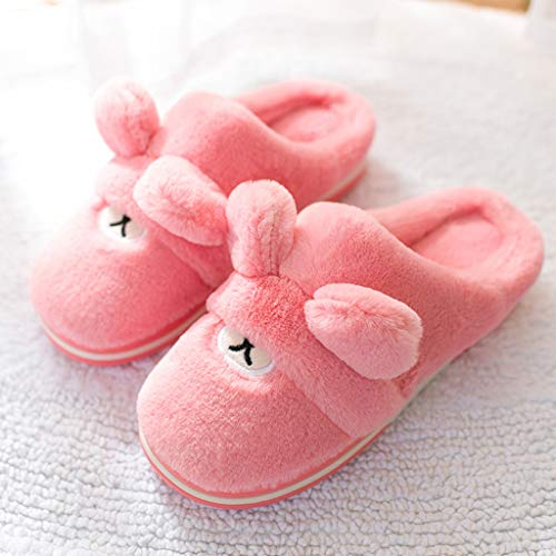 Pantoffel 36 Innenpaar Farbe 37EU AMINSHAP Pink warme Sled dick Weibliches Karikatur Nettes größe Gray Baumwollpantoffeln Hauptwinter Haus qv6YP
