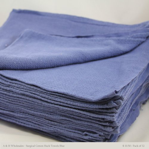 Surgical Cotton Huck Towels Blue 15