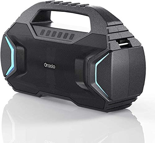 Bluetooth Speaker,Oraolo M100 Transportable Bluetooth Speaker with 40W Loud Stereo,Sound Wealthy Bass 10000mAh Battery Energy,Bluetooth 5.0,TWS LED Lights,Speaker for Residence,Outside,Journey